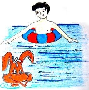 Я накруге плавал вречке